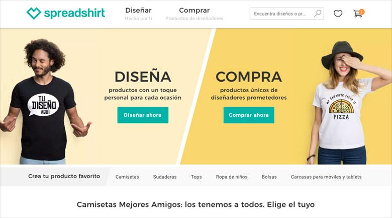 Vender camisetas online: Spreadshirt