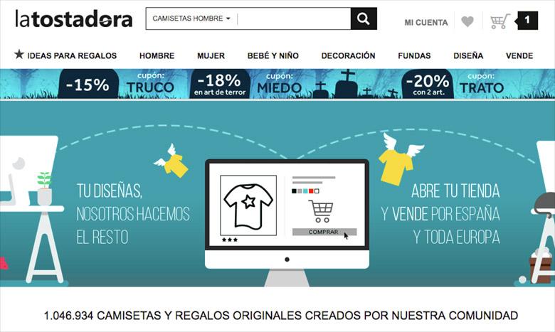 Vender camisetas online: La Tostadora